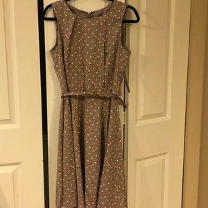 Eva Mendes Floral Knee-Length Dress